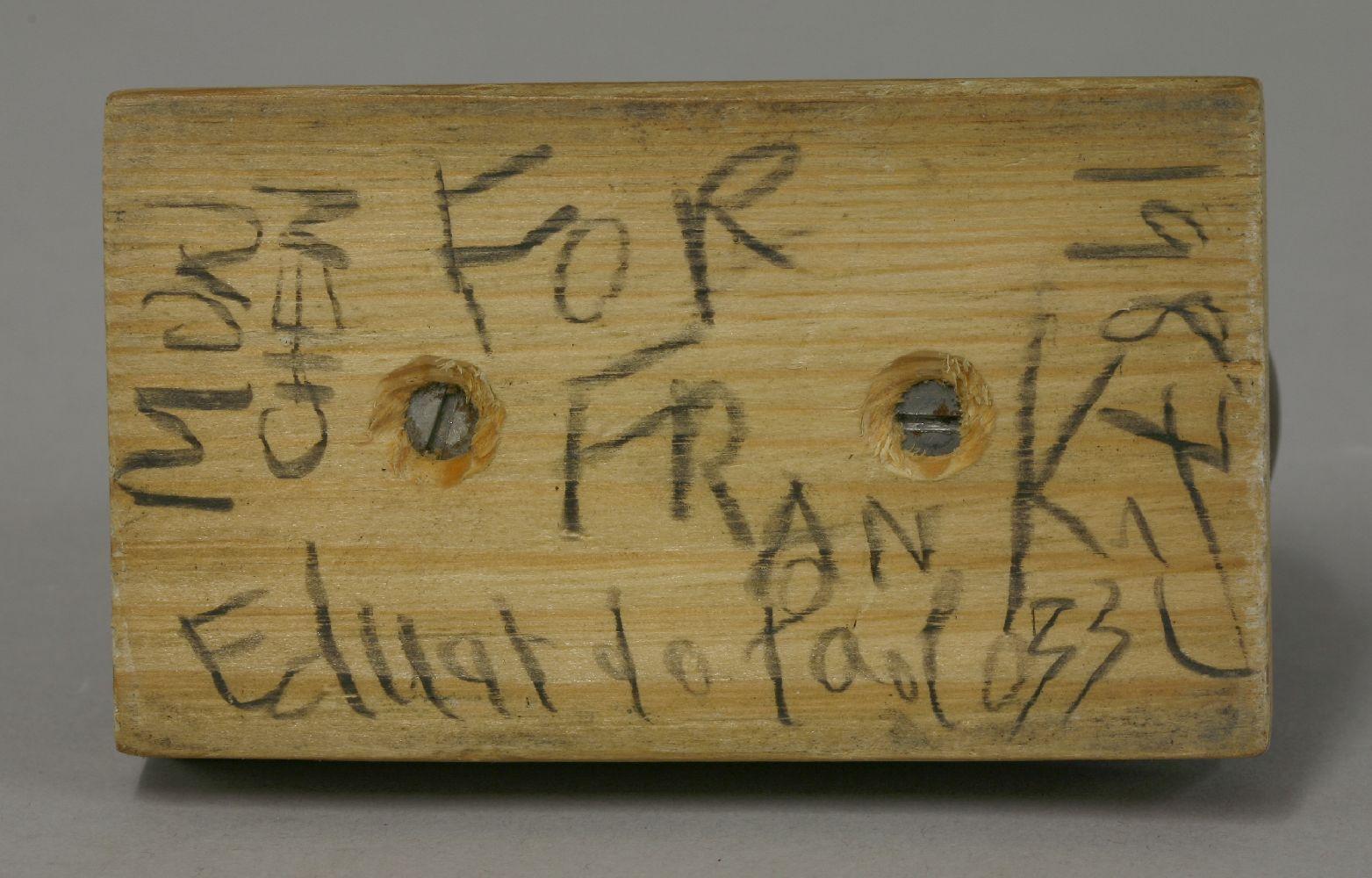 Lot 467 - *Sir Eduardo Paolozzi RA (1924-2005),PISCATOR OR EUSTON HEADbronze, on a pine plinth, signed and