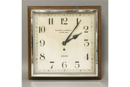 Previous  sc 1 st  The Saleroom & An Art Deco wall clocksquare with chrome door dial inscribed ...