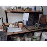 LOT: WORK BENCH & ASST. HARDWARE