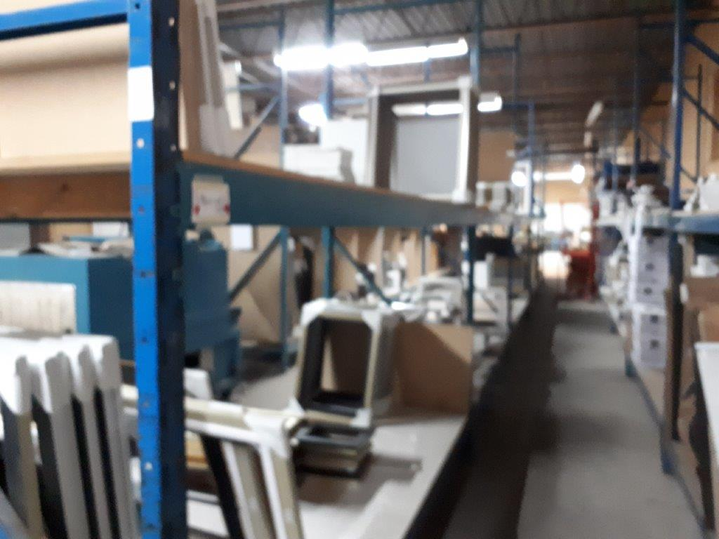 SECTIONS OF INDUSTRIAL RACKING, 42'' x 125'' X 144'' H (CONTENTS NOT INCLUDED) - Image 3 of 7