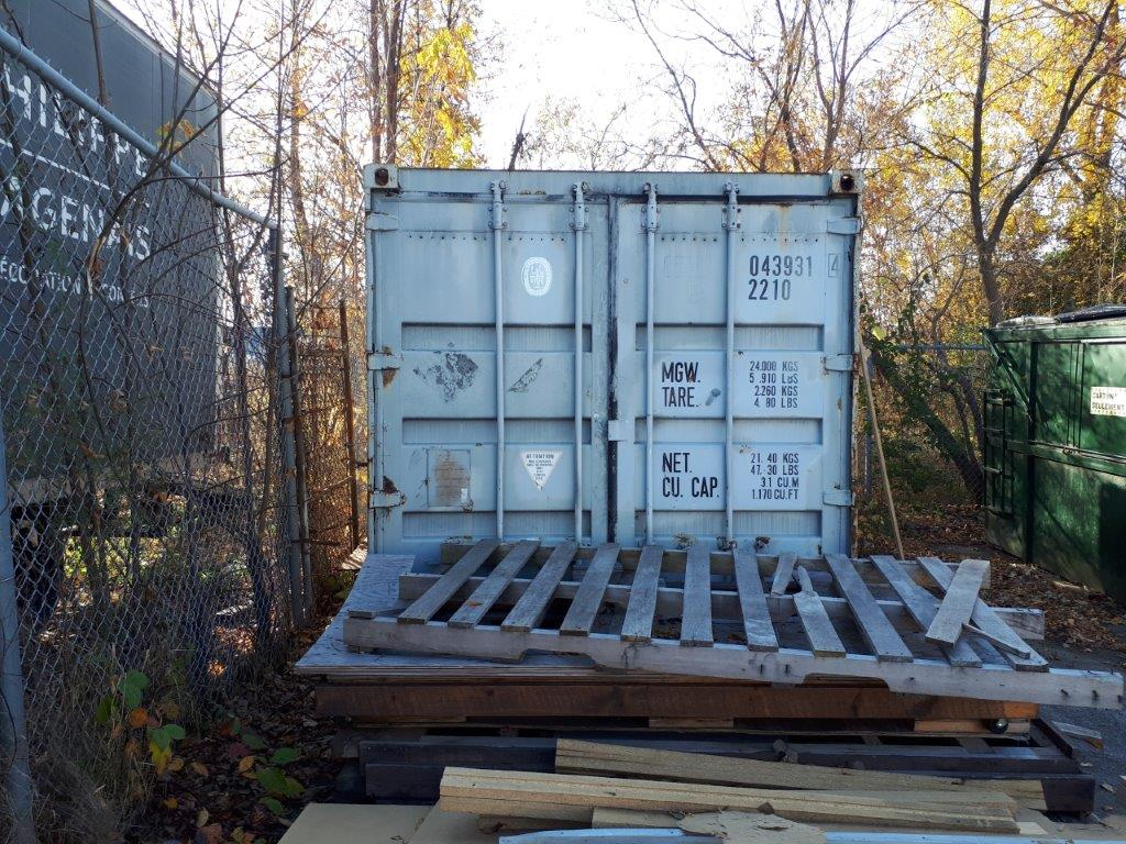 MARITIME CONTAINER, 20', C/W CONTENTS ( FOILS ROLLS, MACHINERY, TABLES, SHELVING, ETC. - Image 3 of 3
