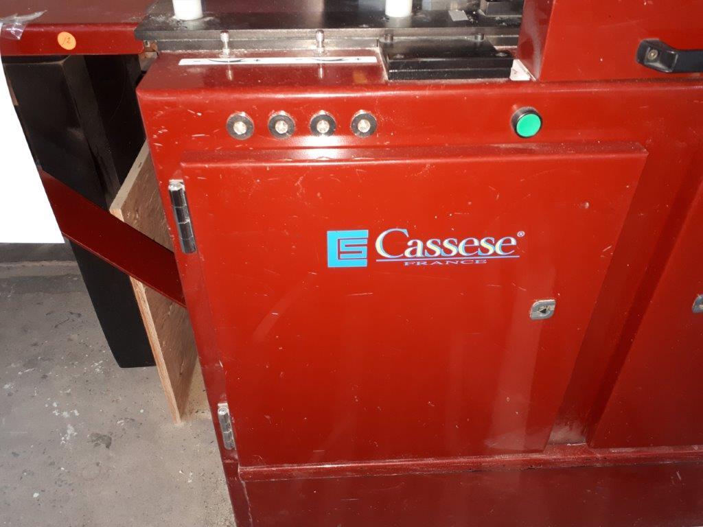 "Lot 12 - ""CASSESE"" DOUBLE BLADE SAW, mod: CS939, ns: 1164-2002"