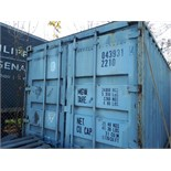 MARITIME CONTAINER, 20', C/W CONTENTS ( FOILS ROLLS, MACHINERY, TABLES, SHELVING, ETC.