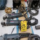 (2) BOSCH 1375-01 4 1/2 IN RIGHT ANGLE GRINDERS