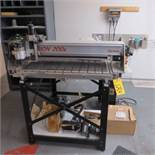 GERBER DIMENSION 200X ROUTER/ENGRAVER WITH ARCSTATION CONTROL, COMMANDER CDS