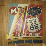 NOSTALGIC OLD TYME CANVAS DINER PICTURE
