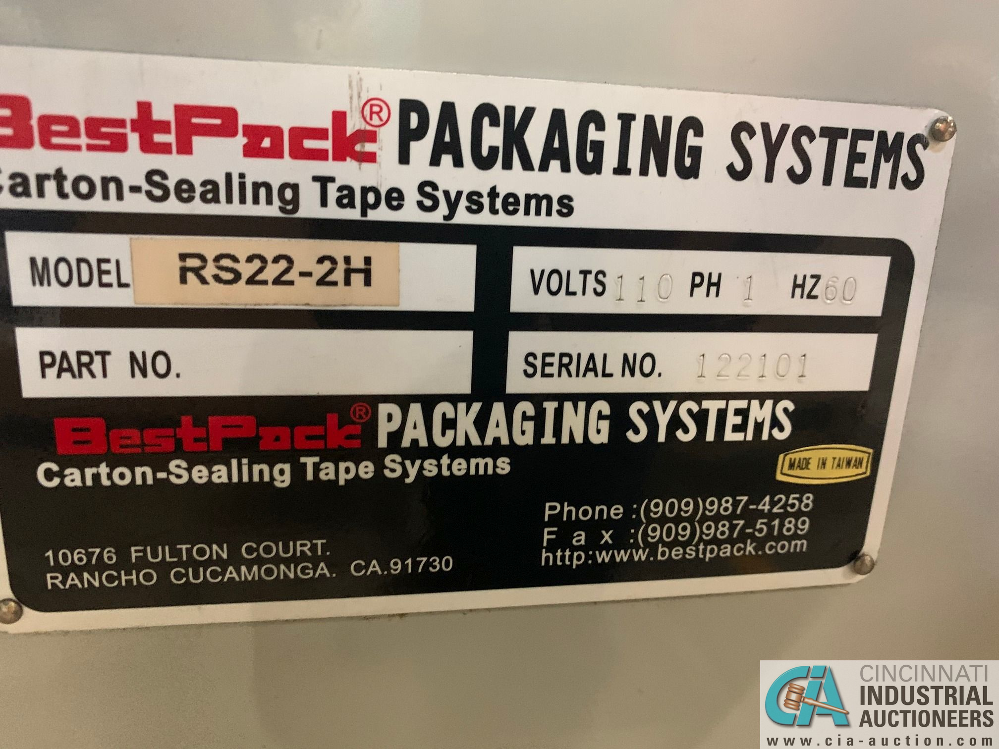 BEST PACK MODEL RS22-3H BOX TAPER; S/N 122101 (APPROX. 2013) - Image 4 of 7