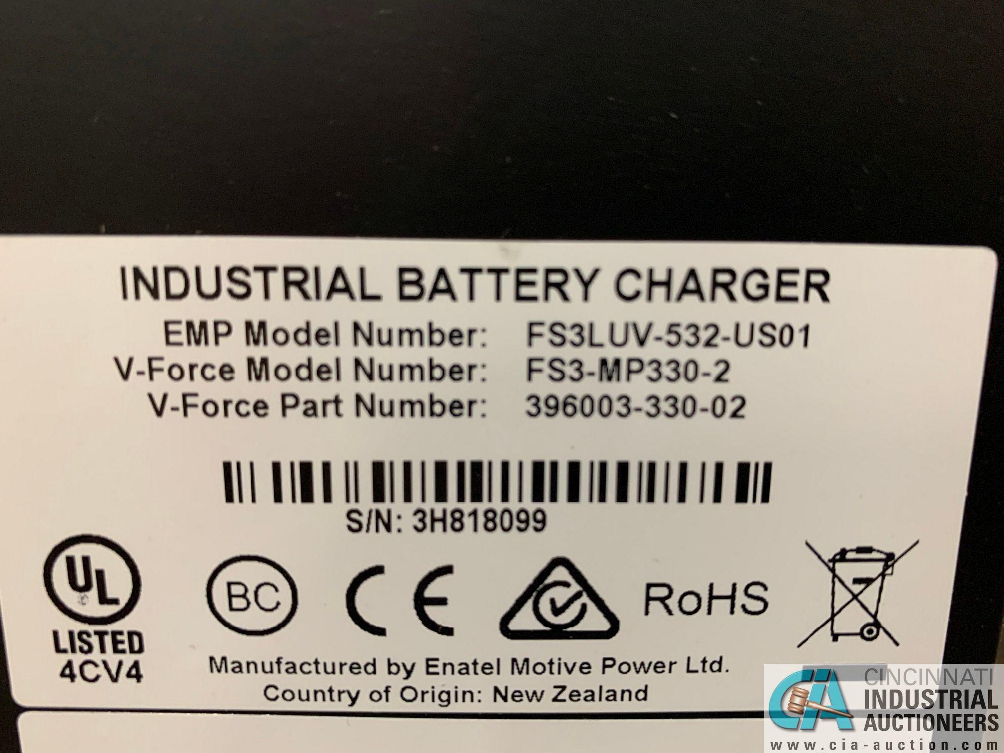 V-FORCE MODEL FS3-MP330-2 BATTERY CHARGER; S/N 3H818099, 36 VOLT, NO STAND - Image 3 of 6