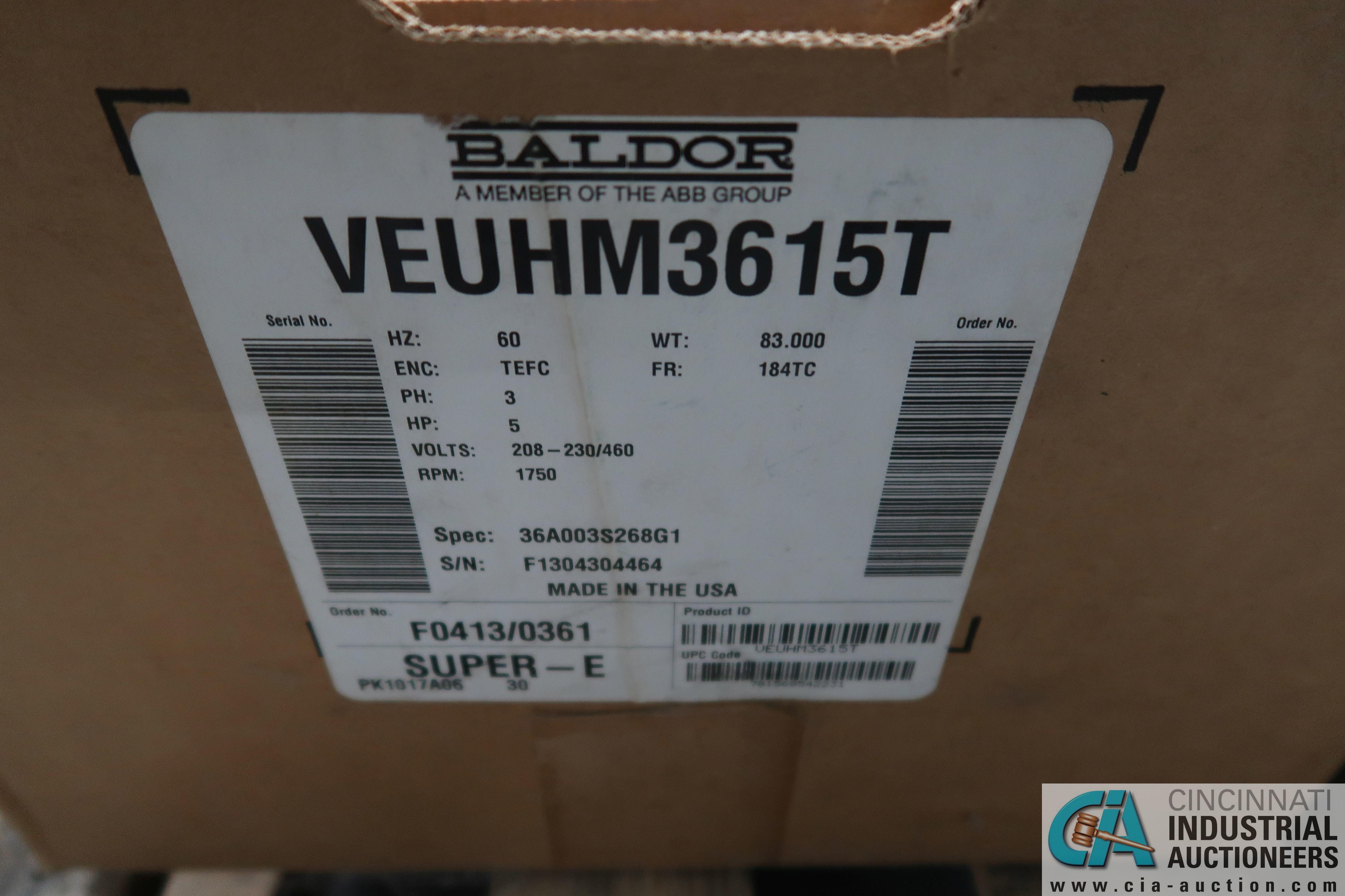 5 HP AND 3 HP BALDOR NEW ELECTRIC MOTORS - Image 2 of 4