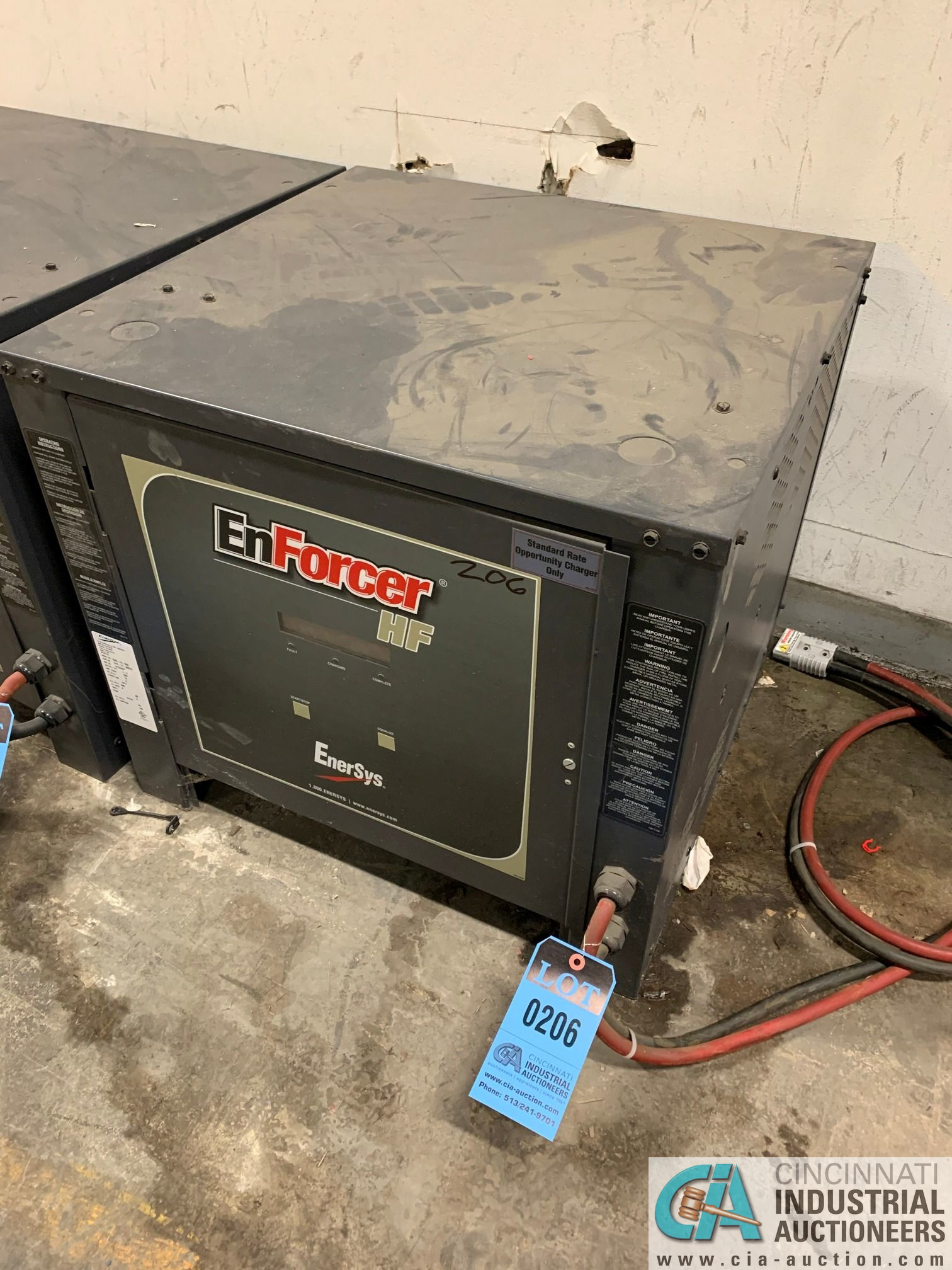 ENERSYS MODEL EH3-12-900 ENFORCER HF BATTERY CHARGER, NO STAND **LOCATED IN AISLE BEHIND CHARGE