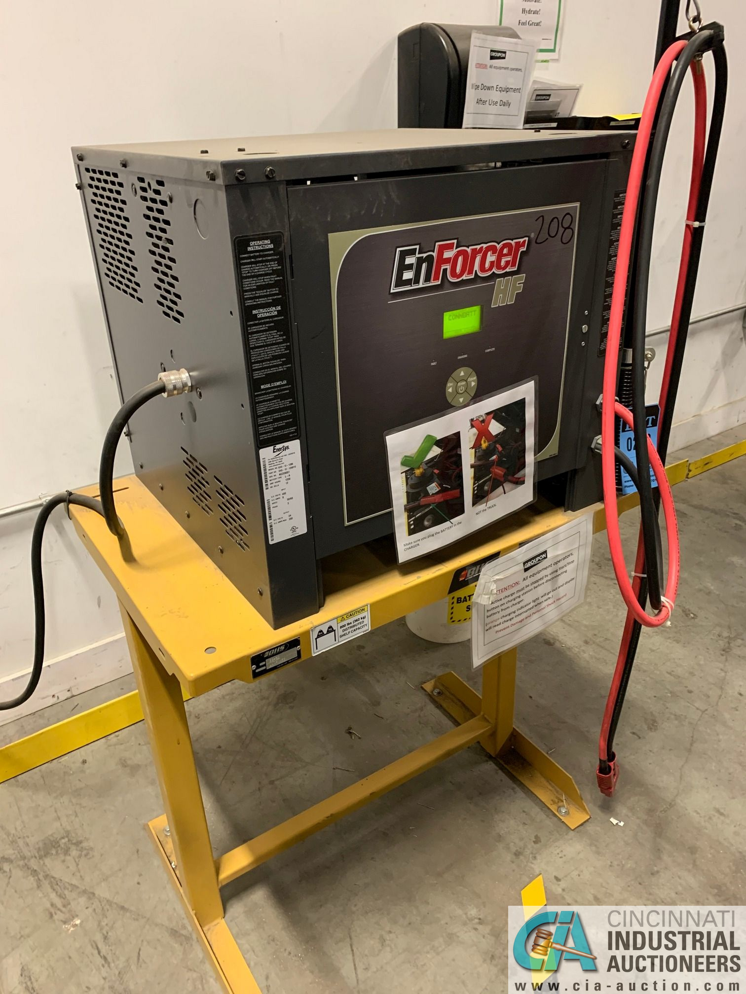 ENERSYS MODEL EH3-12-1200 ENFORCER HF BATTERY CHARGER WITH STAND **LOCATED BY START OF SALE** - Image 2 of 5