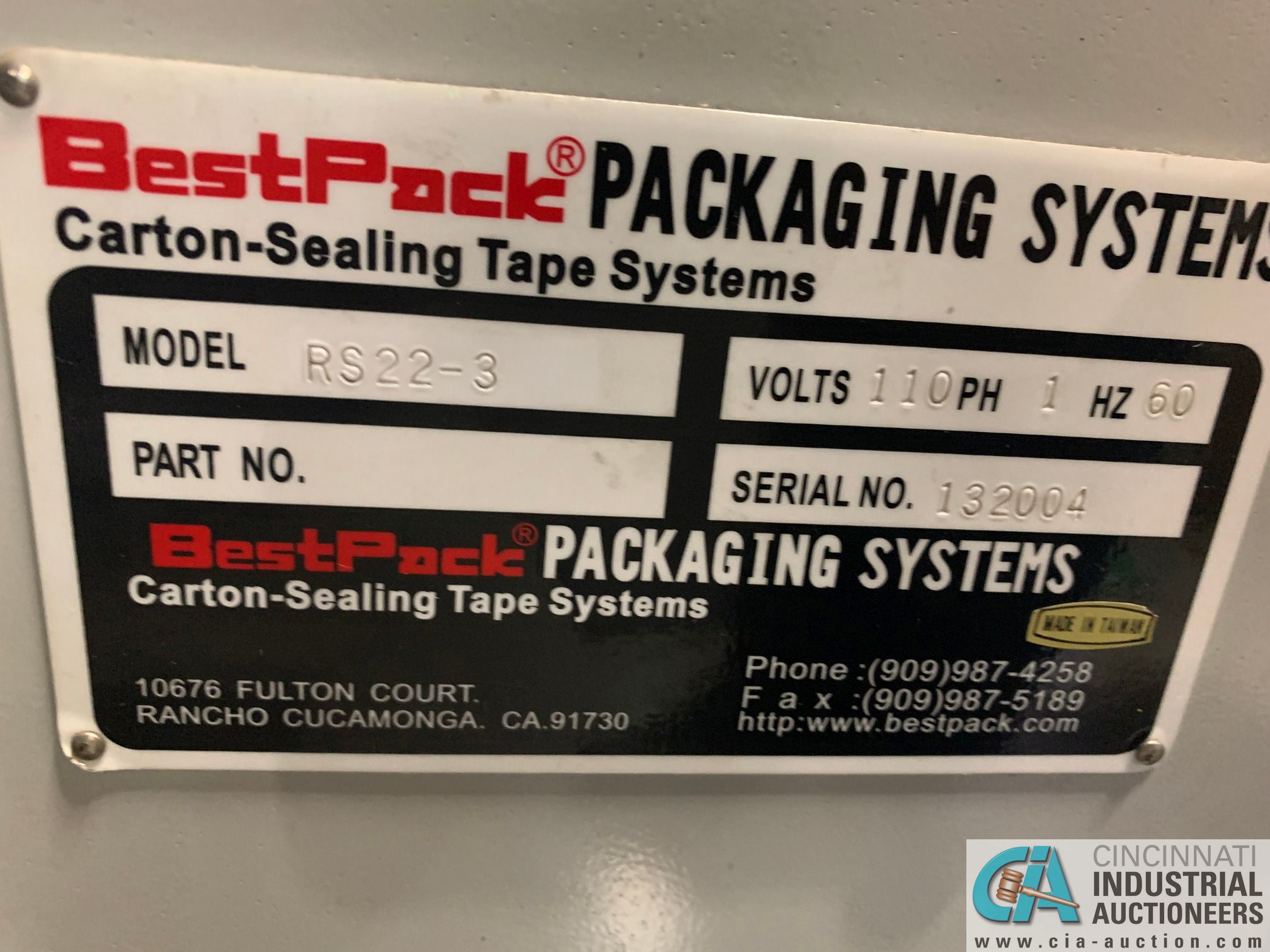 BEST PACK MODEL RS22-3H BOX TAPER; S/N 132004 (APPROX. 2013) - Image 4 of 6