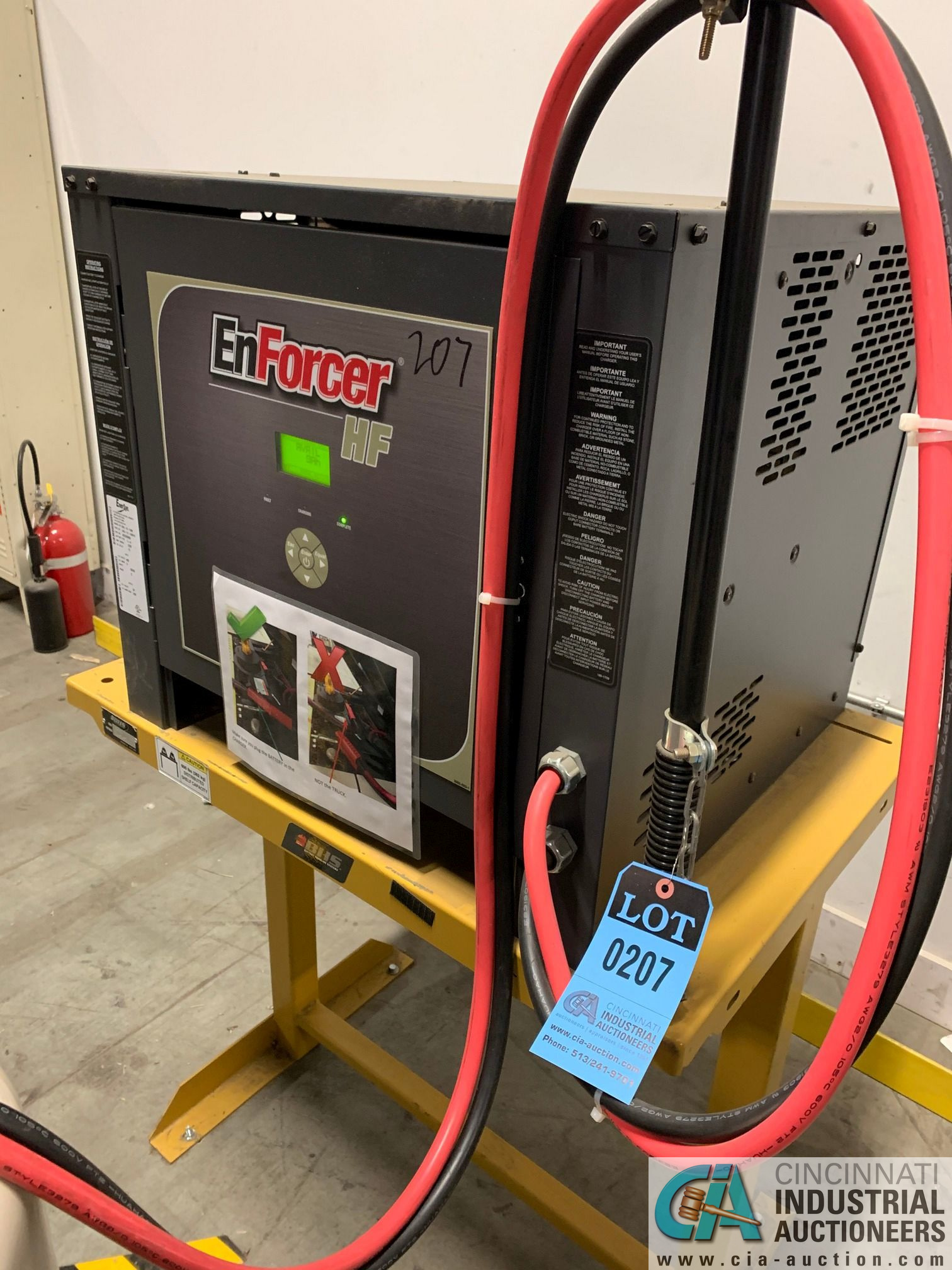 ENERSYS MODEL EH3-12-1200 ENFORCER HF BATTERY CHARGER WITH STAND **LOCATED BY START OF SALE** - Image 3 of 4