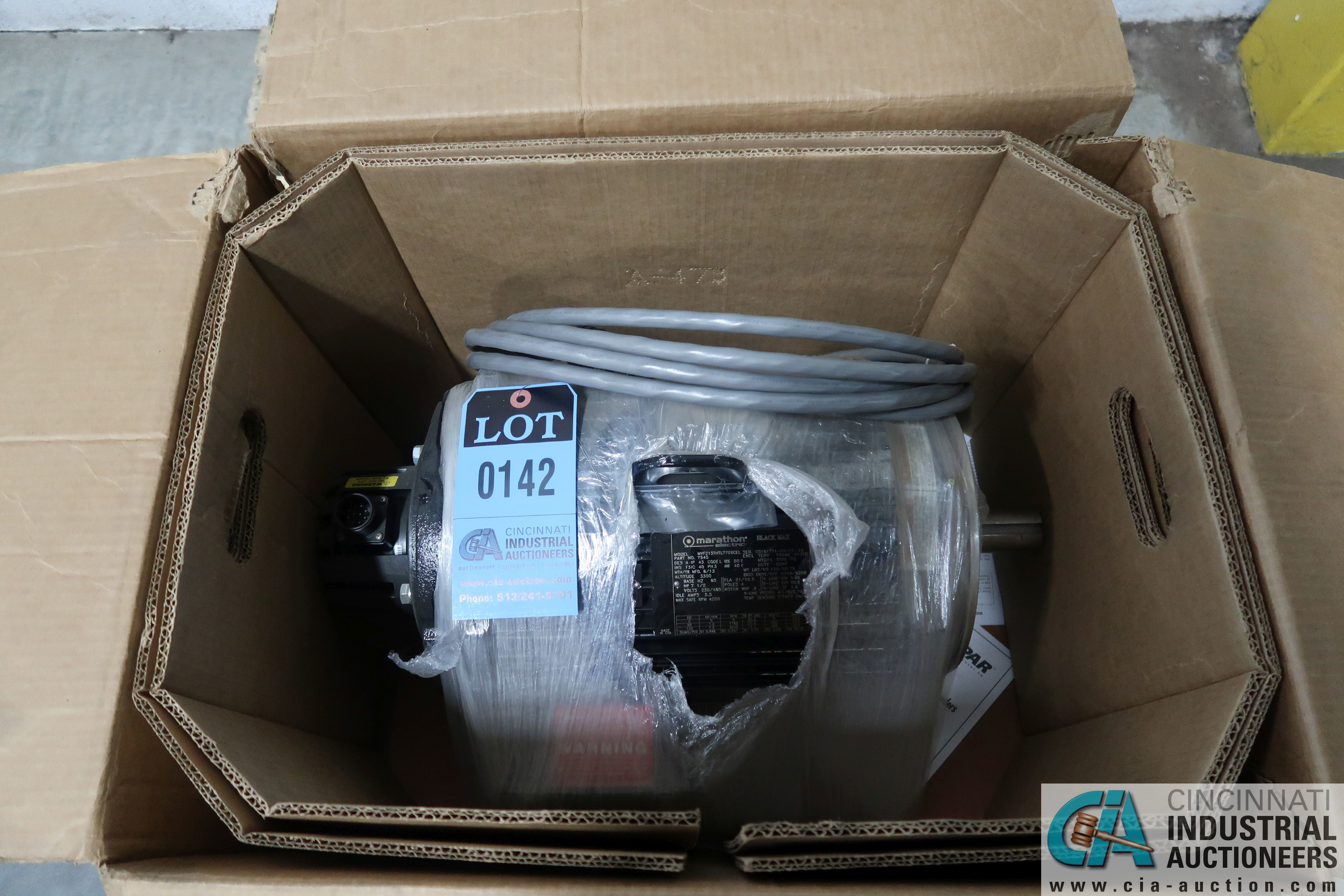 7.5 HP MARATHON BLACK MAX NEW ELECTRIC MOTOR
