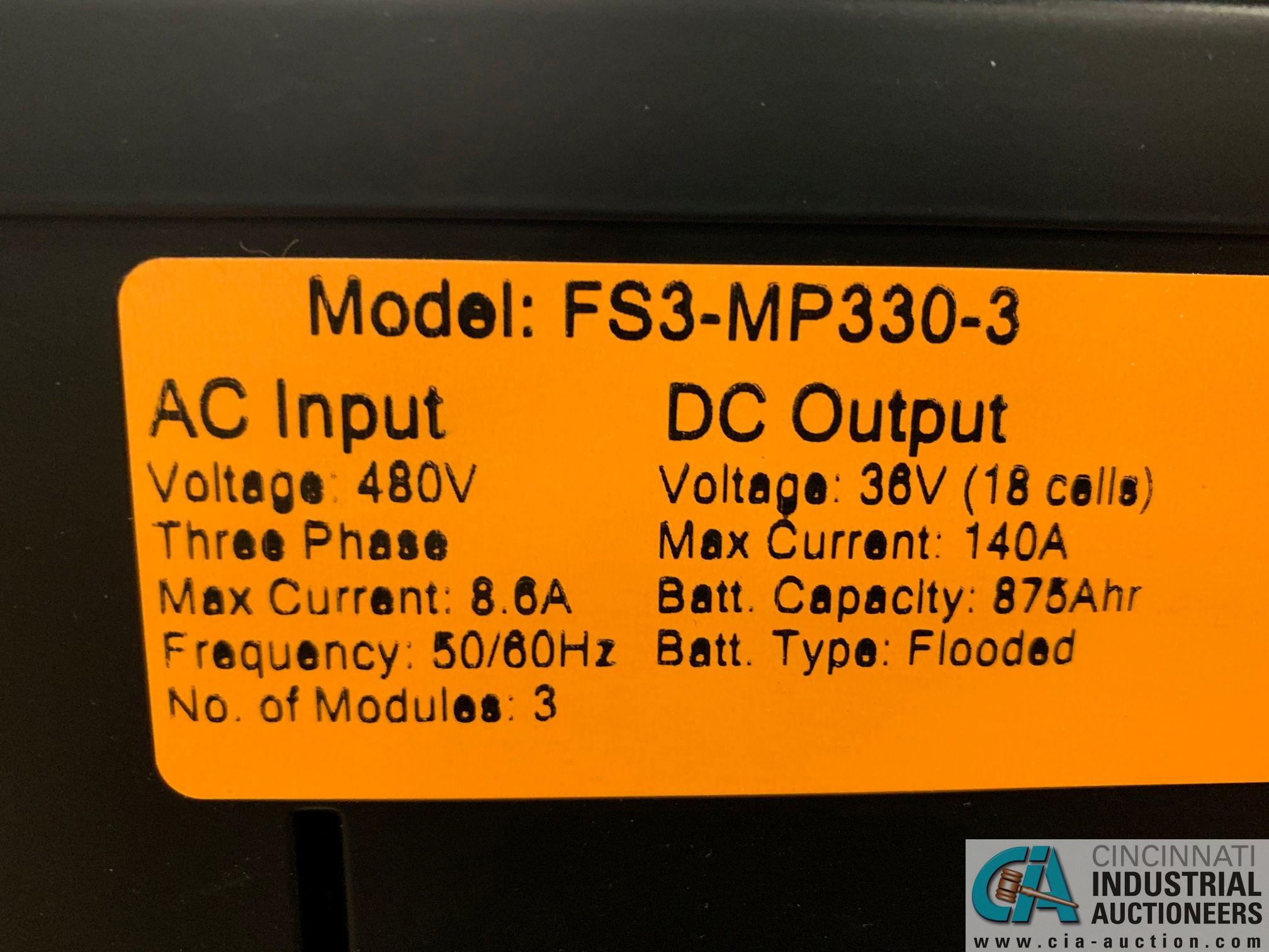 V-FORCE MODEL FS3-MP330-2 BATTERY CHARGER; S/N 3H818099, 36 VOLT, NO STAND - Image 4 of 6