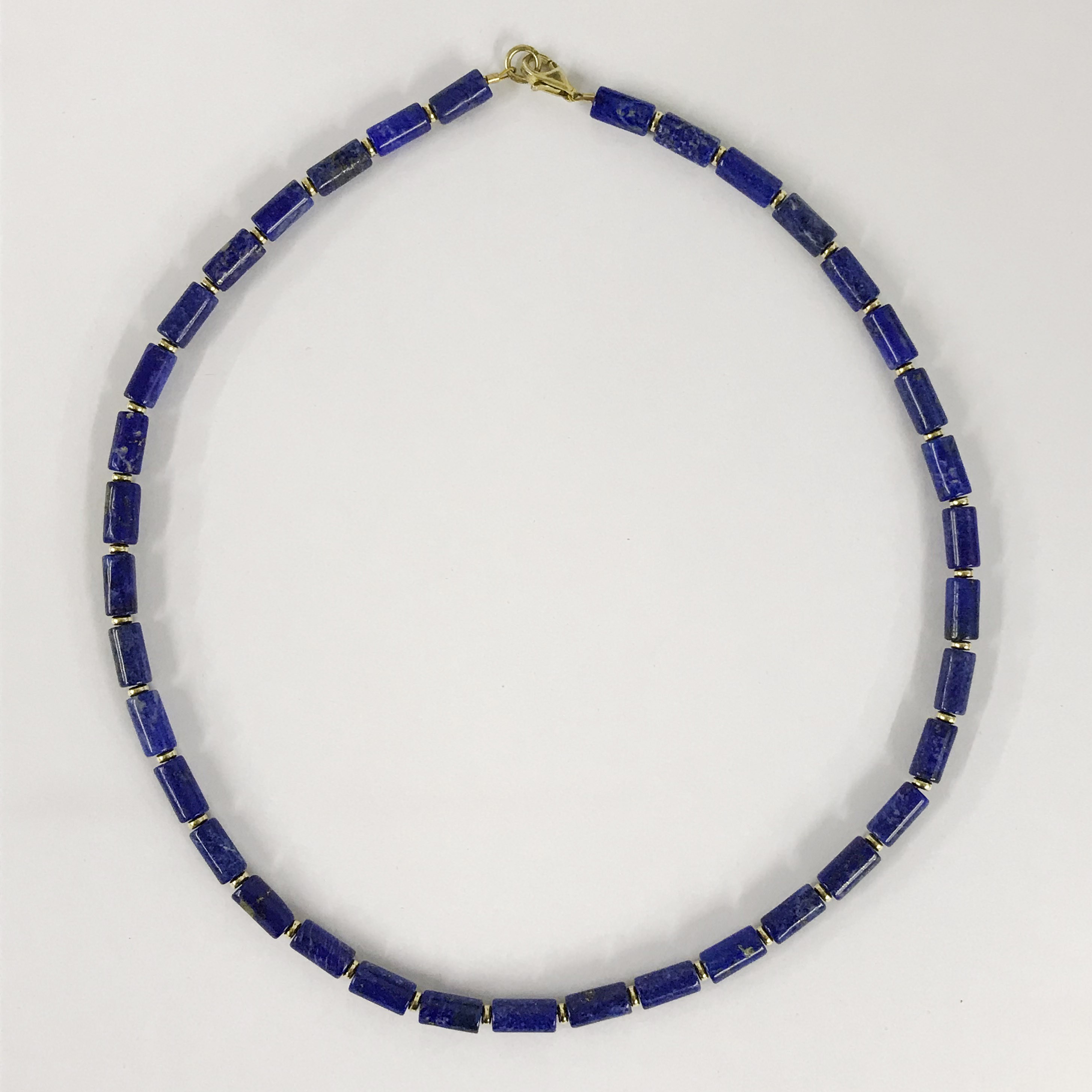 Lot 7 - 14k gilt silver lapis lazuli necklace
