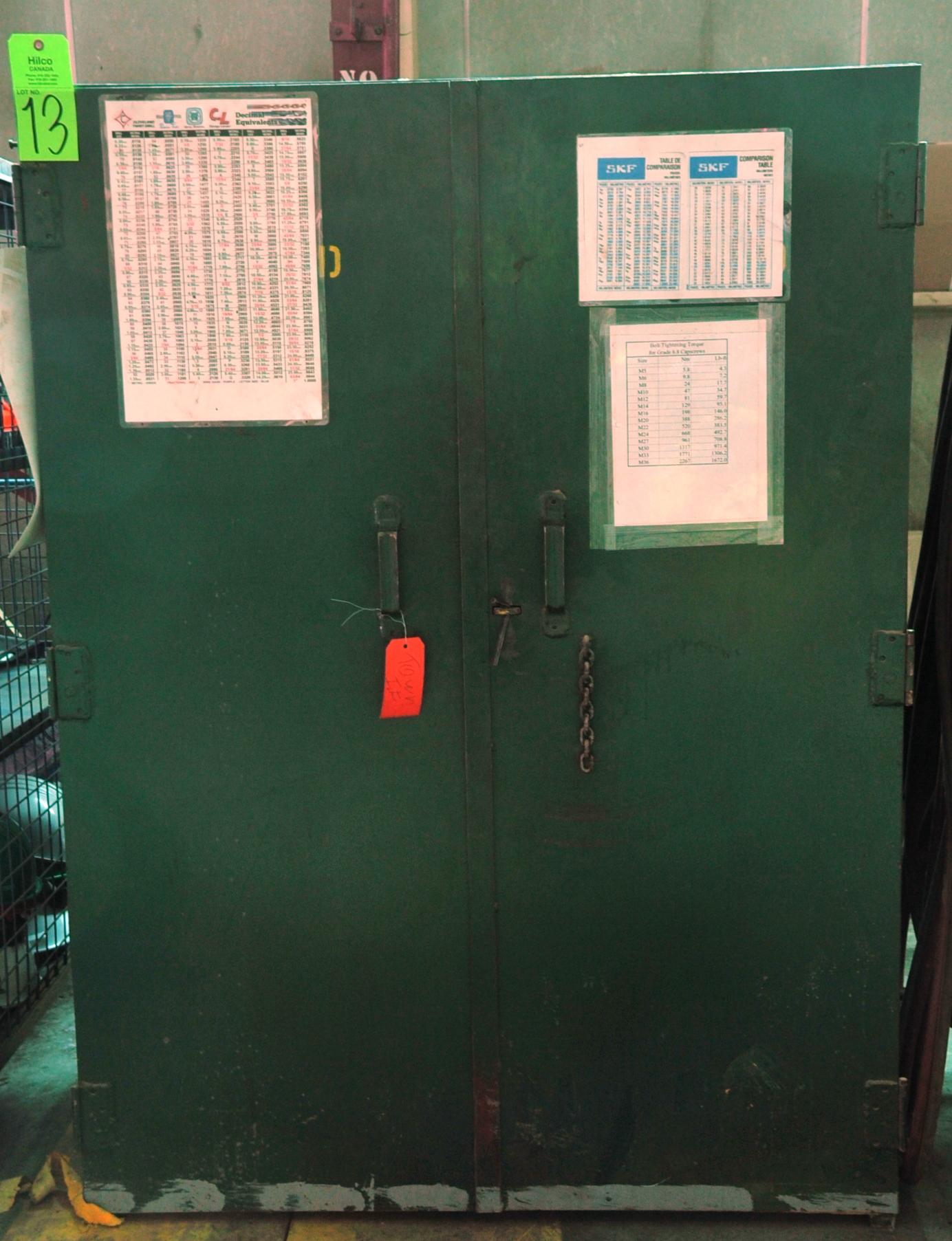 Lot 13 - Metal 2-Door Storage Cabinet