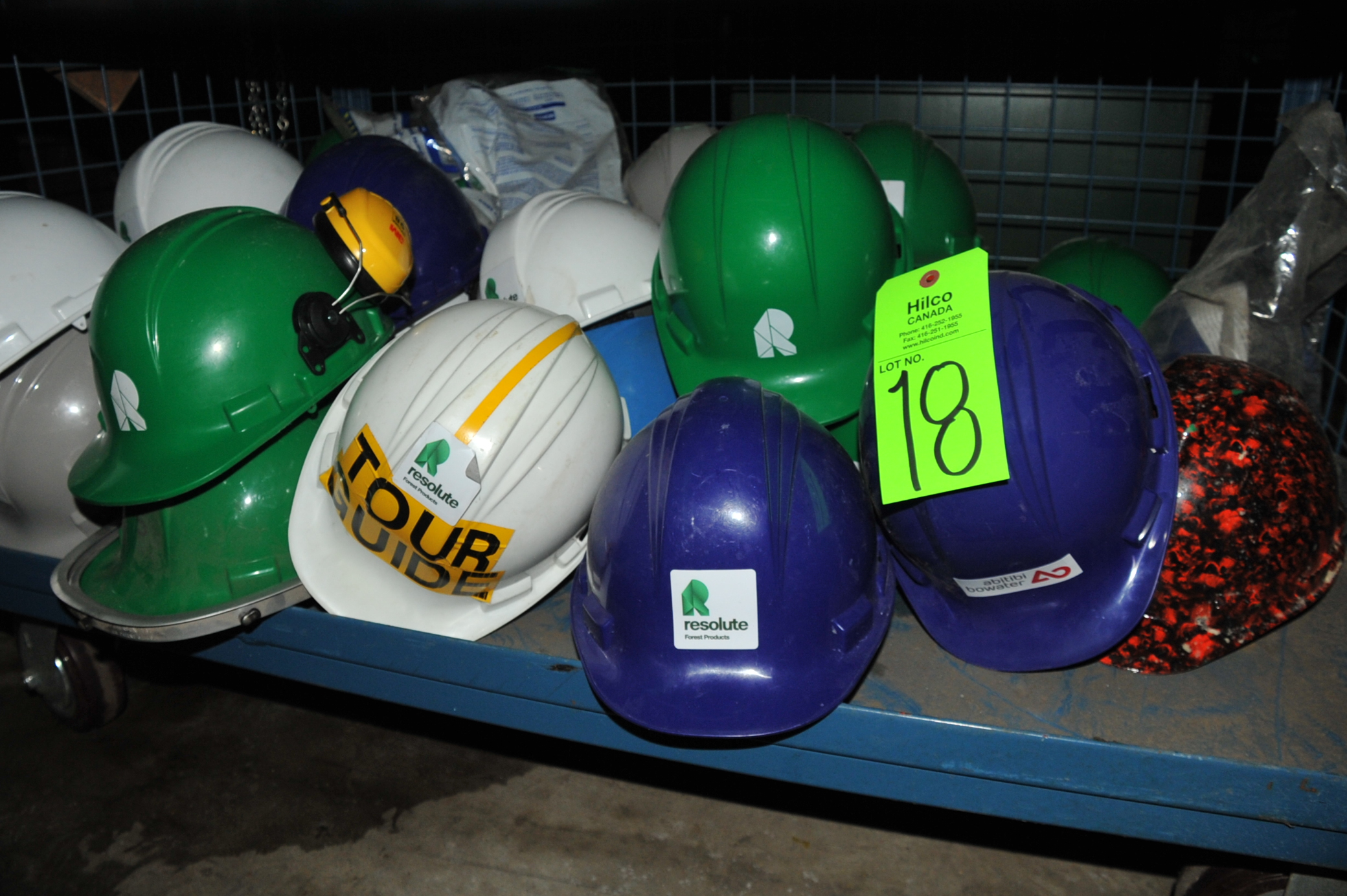 Lot 18 - Lot of Asst. Hard Hats
