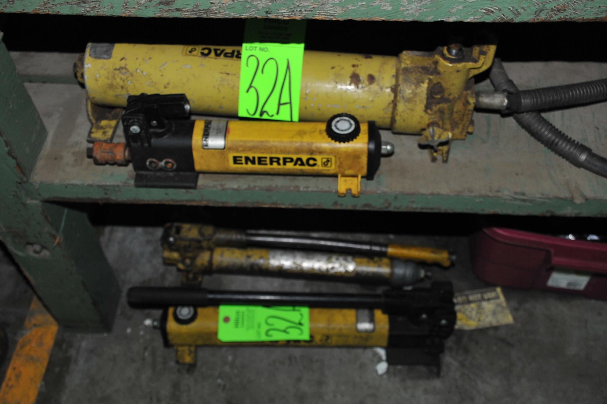 Lot 32A - Asst. Enerpac Hydraulic Pumps