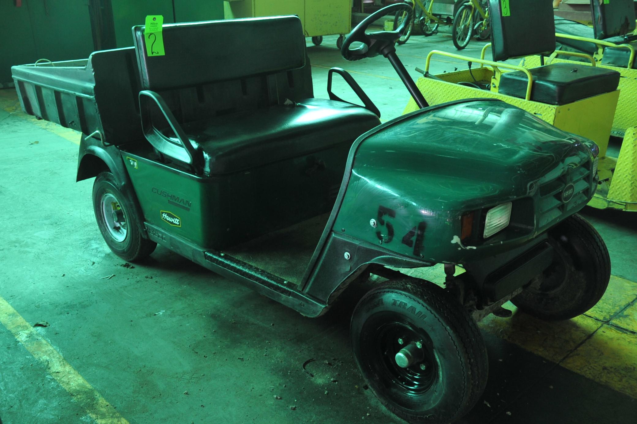 Lot 2 - Cushman Model Commander Electric Powered Cart