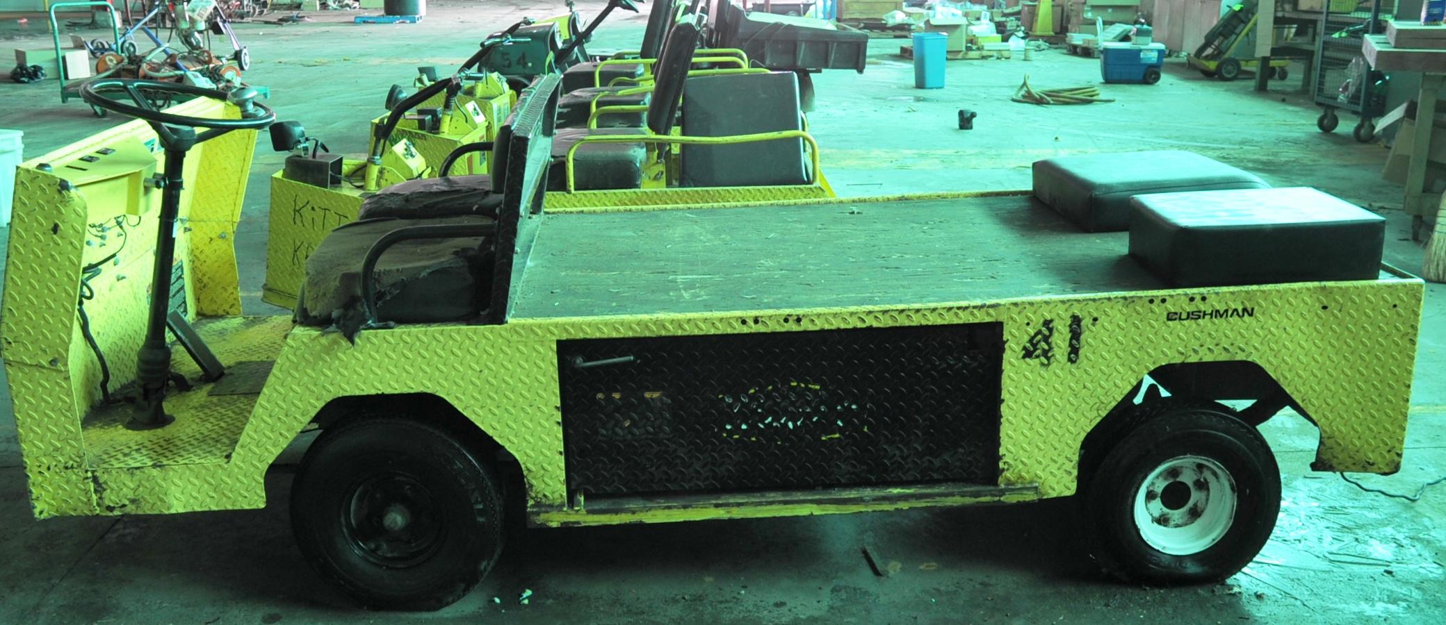 Lot 6 - Cushman Flat Bed Electric Powered Cart