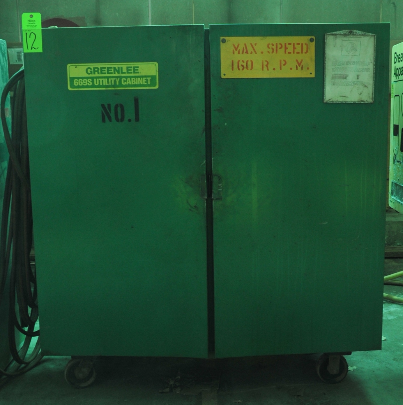 Lot 12 - Greenlee Model 669S Portable Utility Cabinet