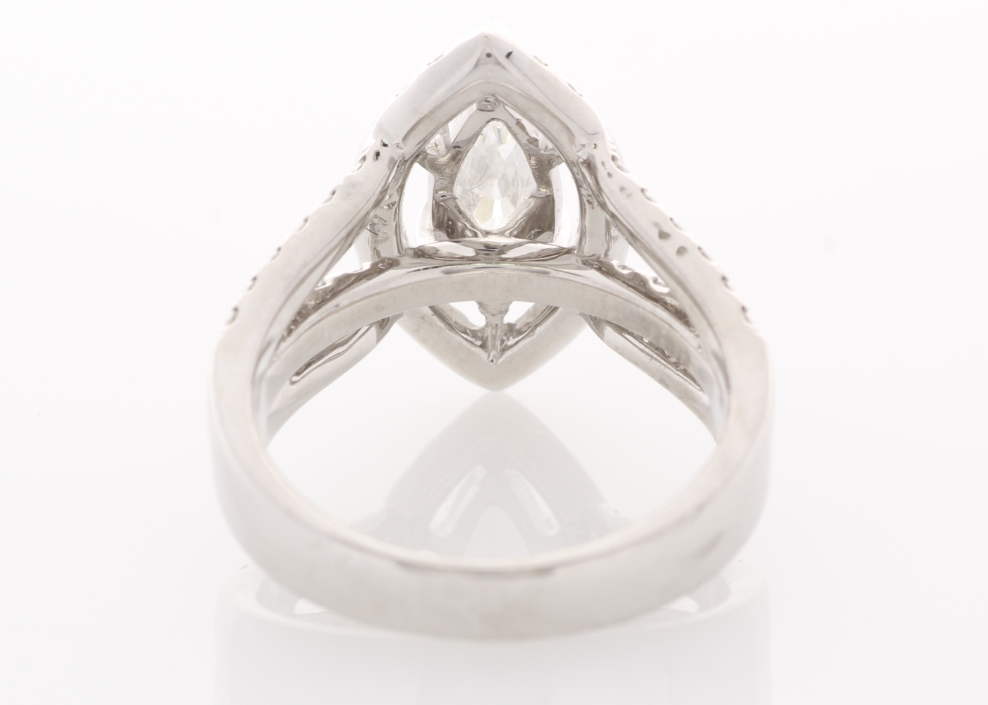 Lot 47 - 18ct White Gold Single Stone With Halo Setting Ring 1.94