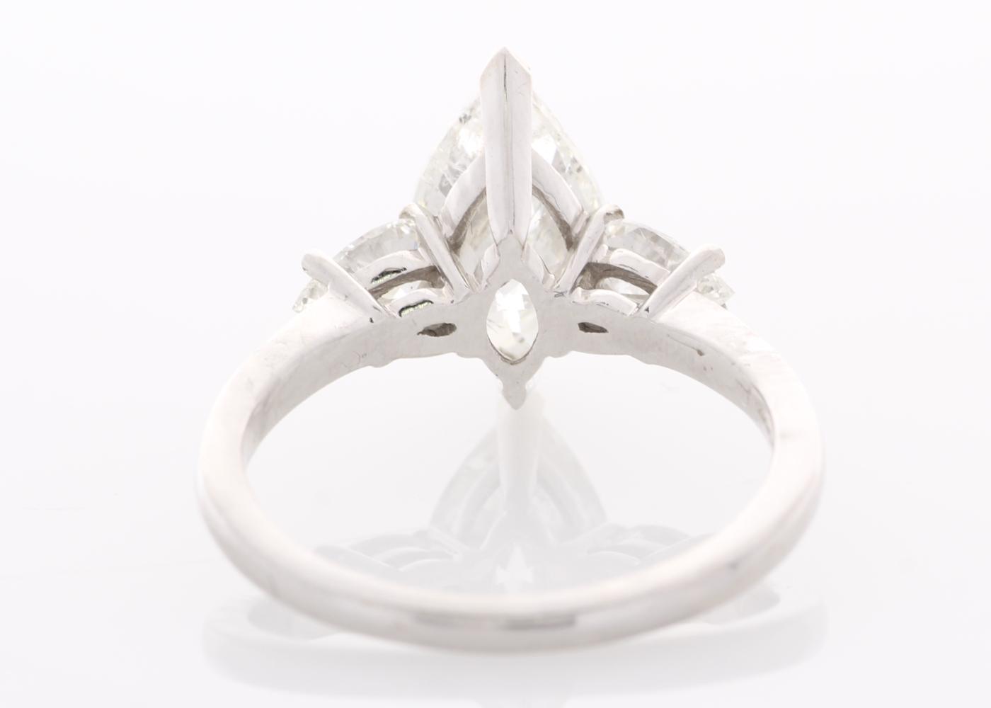 Lot 55 - 18ct White Gold Three Stone Claw Set Diamond Ring 2.51