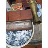 Mixed box to include Wedgwood, ceramics & an inkwe