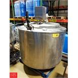 400 Gallon± S/S Mix Tank Vertical Agitator  Rigging Fee: $150