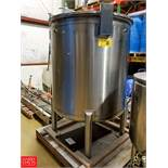 Bush Tank Fab Inc. 350 Gallon S/S Mixing Tank with S/S Stand Rigging Fee: $100