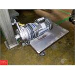 Thomsen 1 HP Pump with S/S Head, Clamp Type Mounted On Cart Rigging Fee: $35