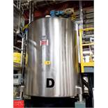 Viatec 1,113 Gallon S/S Hinged Lid Mix Tank with 5 HP Vertical Agitator, FWC DWMIIII Digital