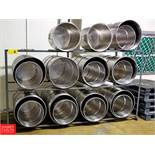 "Assorted S/S Barrels with 111"""" x 60"""" Stand Rigging Fee: $150"