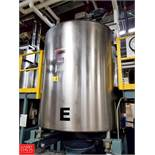 Viatec 1,113 Gallon S/S Hinged Lid Mix Tank with 5 HP Vertical Agitator , Mounted On FWC Load Cells,