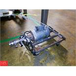 1 HP Pump with S/S Head, Clamp Type Mounted On Cart Rigging Fee: $35