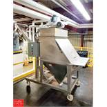 "Flexicon Bag Dump Station, 86"" Screw Conveyor, 3 HP Motor, 208 V, 3 Ph., 36"" x 36"" x 72"" Storage"