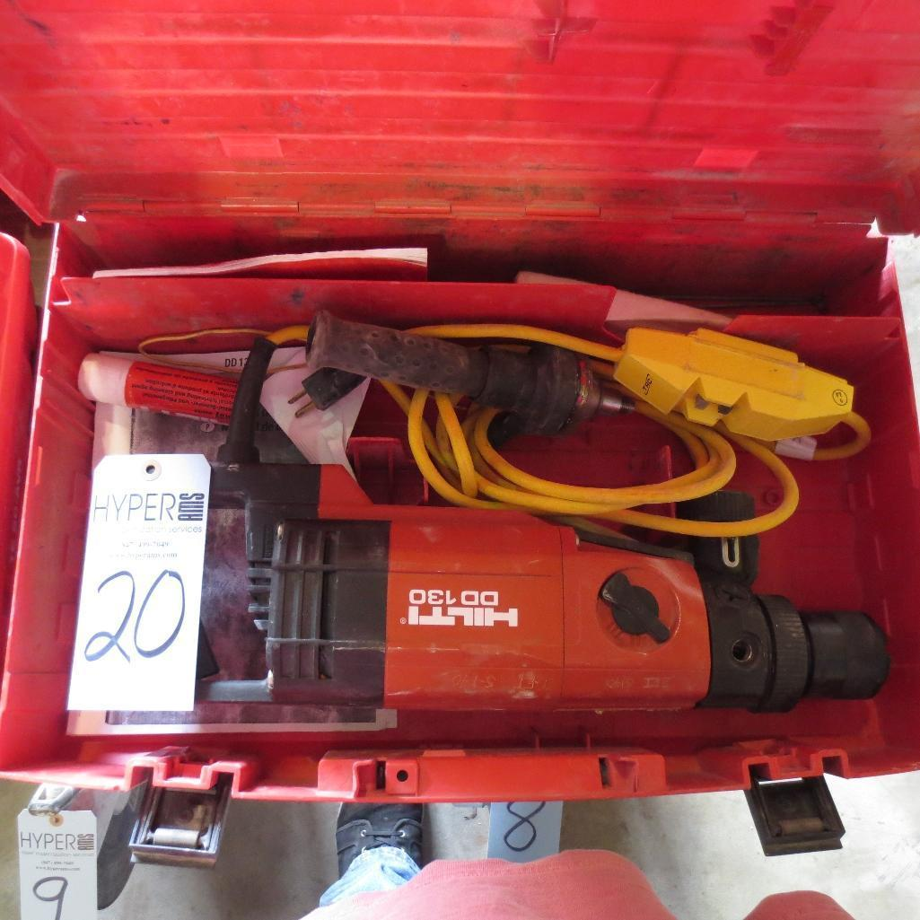 Lot 20 - Hilti DD-130 Hammer Drill