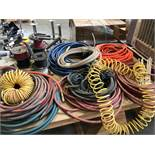 {LOT} On 2 Tables c/o: Hoses, Electrical, Belts, Etc.