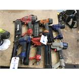{LOT} (6) Assorted Pneumatic Nailers