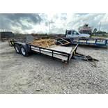 16' Top Hat 2-axle trailer Model EA16x6.5-5E-C, Date: 2014, VIN 4R7BU1623FT142252