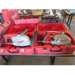 Two Milwaukee Metal Cutting Circular Saws in Cases