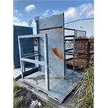 LOT: 2 Metal Tank Holders with Divider