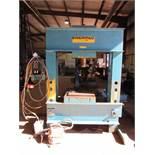 "200 Ton Enerpac Hydraulic H-Frame Shop Press, 200 ton cap., 10,000 psi max. oper. pressure, 48.5"""