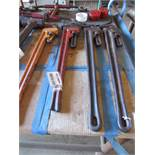 "Four 36"" Pipe Wrenches"