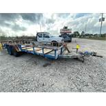 """Custom Trailer, 18' bed plus 65"""" hook-up, O/A width 8' 4"""", (4) NEW Tires"""