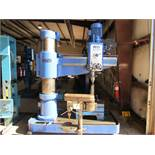 "Ooya 4' 13"" Model RE2-1300 Radial Arm Drill, 13-3/8"" col. dia., 40-3/4"" hor. head travel, 11-5/"