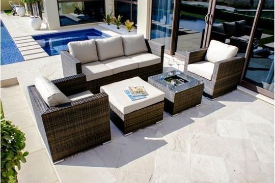 Rattan Georgia 3 Seat Sofa Set With Ice Bucket (Brown) *BRAND NEW* - Image 3 of 3