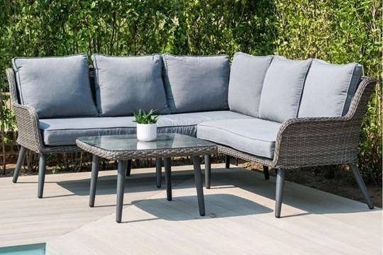 Rattan Florence Outdoor Corner Sofa Set *BRAND NEW*