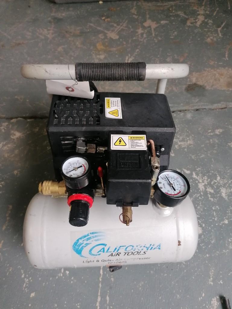 (1) California Air Tools Air Compressor, Model 1P1060S. Located at 301 E Henry Street, Mt. Pleasant,